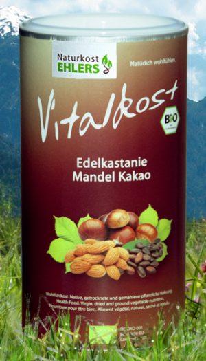 Vitalkost Amaranth und Quinoa: Edelkastanie Mandel Kakao — 375 g