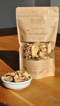 Naturkost Ehlers Gemüse-Chips Topinambur mit Chips in Schale