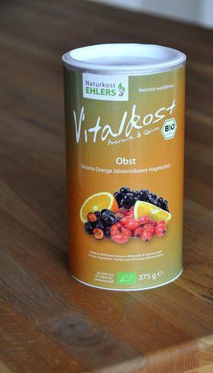 Vitalkost Amaranth und Quinoa: Obst (Aronia Orange Johannisbeere Hagebutte) — 375 g
